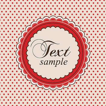 Retro Dotted Decorative Card - vector gratuit(e) #200645