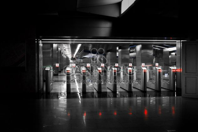 Turnstiles at subway station - Free image #200735