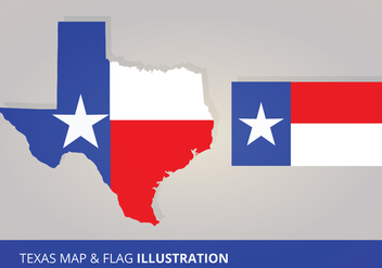 Texas Flag and Map Vectors - Free vector #200835
