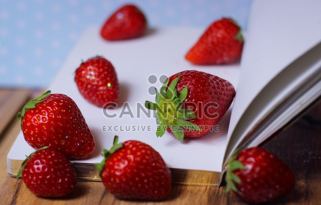 Strawberrie on a diary - Free image #201055