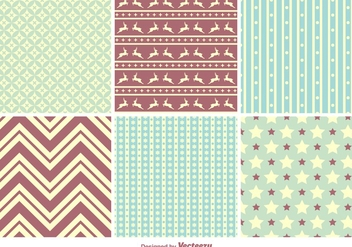 Christmas seamless patterns - Free vector #201185