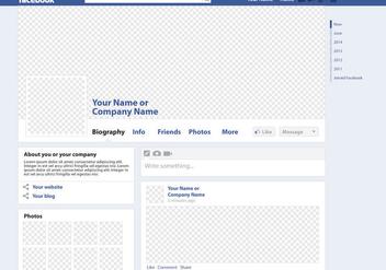 Facebook Page Vector Mockup - бесплатный vector #201265