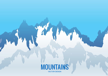Vector mountain range - Free vector #201305