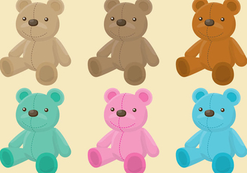 Teddy Bear Vectors - Free vector #201355
