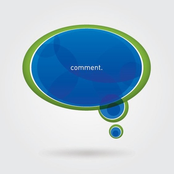 Blue Green Speech Bubble - Free vector #201375