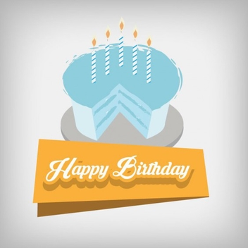 Happy Birthday Cake Design Vector - Free vector #201755