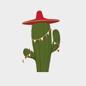 Free Festive Cactus Vector - Free vector #201785