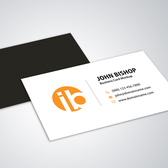 Modern Simple Business Card Mockup Design - Free vector #201825