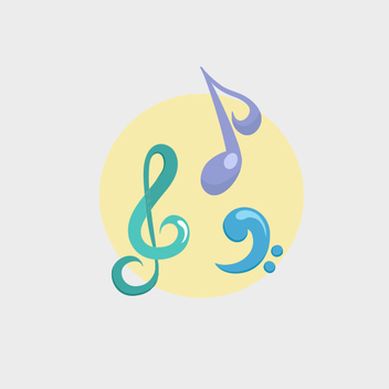 Free Pastel Music Vector - Free vector #201905