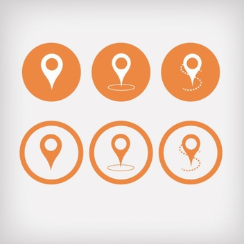Free Orange Pointer Vector Icons - Free vector #201985