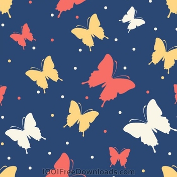 Butterflies Vector Background - Free vector #202045