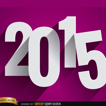 2015 Block Number Background - vector #202095 gratis