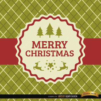 Plaid Christmas Vector Card - Free vector #202125