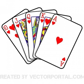 Free Vector Poker Royal Flush - vector gratuit #202245