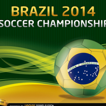 Free Vector Soccer Ball World Cup Background - Kostenloses vector #202295