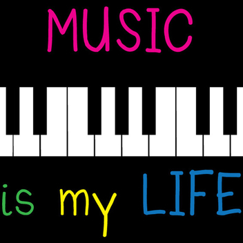 Music Is My Life Vector - Free vector #202355
