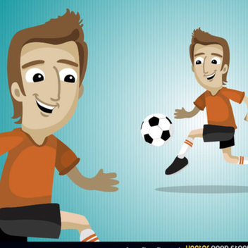 Free Vector Soccer Player Character - Free vector #202395