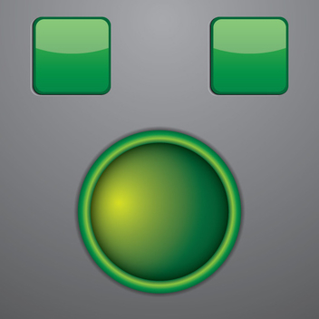 Glowing Green Button Vector - Kostenloses vector #202475