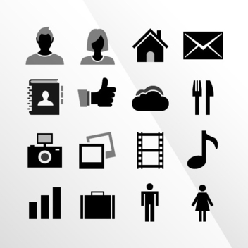 16 IOS Tab Bar Vector Icons By IconBeast.com - vector gratuit #202785