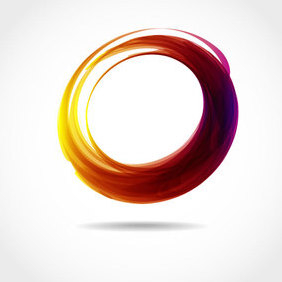 Abstract Circle Vector Shape - Free vector #202875