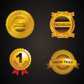 Golden Badges - vector gratuit #202885