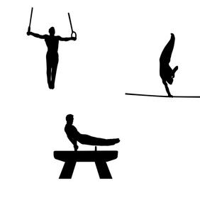 Gymnastics Silhouette Free Vector - Kostenloses vector #202925