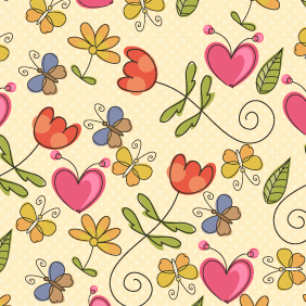 Vector Seamless Floral Pattern - Free vector #202985
