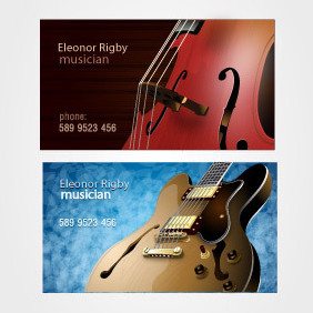 Musicians Business Card Set - vector gratuit #202995