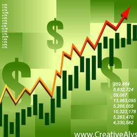 Financial Graph - Kostenloses vector #203075