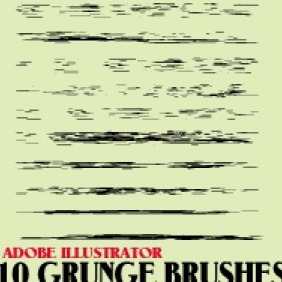 Grunge Brushes For Illustrator - vector gratuit(e) #203145