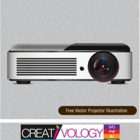 Free Vector Projector Illustration - Free vector #203225