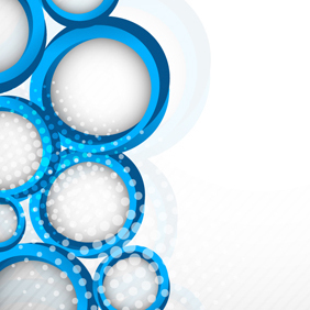 Blue Circle Design Decoration - Free vector #203255