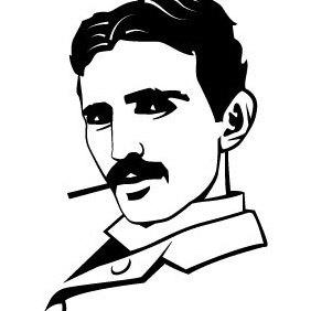 Nikola Tesla Portrait - бесплатный vector #203435