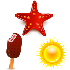 Summer Elements 1 - Free vector #203445