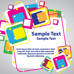 Colorful Cubes Card Design - Free vector #203485