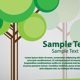 Tree Card Vector Design - vector #203495 gratis