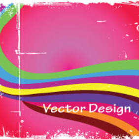 Grunge Colorful Vector In Pink Background - Kostenloses vector #203875