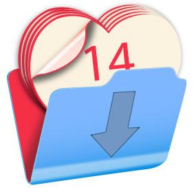 Valentine Calendar Icon - Kostenloses vector #203885