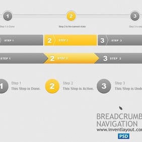 Breadcrumbs Navigation PSD - Free vector #203965