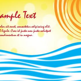 Summer Card With Sun And Sea - бесплатный vector #204275
