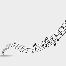 Free Vector Of The Day #60: Music Notes - бесплатный vector #204355