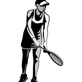 Tennis Player - Free vector #204455
