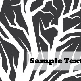 Black And White Tree Vector - vector gratuit #204555