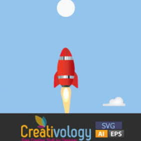 Free Creative Rocket Illustration - Free vector #204685