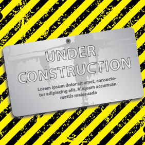 Under Construction Card Design - vector gratuit #204775