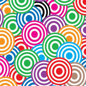 Simplistic Colourful Circles - vector gratuit #204815