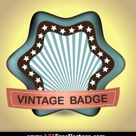 Retro Vintage Badge Vector - бесплатный vector #204955