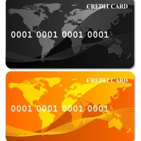 Gold Credit Card - vector gratuit #205045