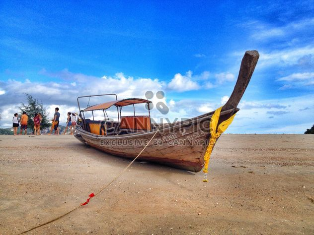 boat,sea,sky,cloud,travel,tour,tourist,group,blue,white,landscape - Free image #205085