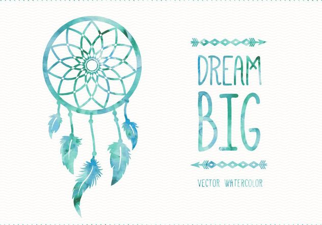 Carte de Dreamcatcher aquarelle - vector gratuit(e) #205105